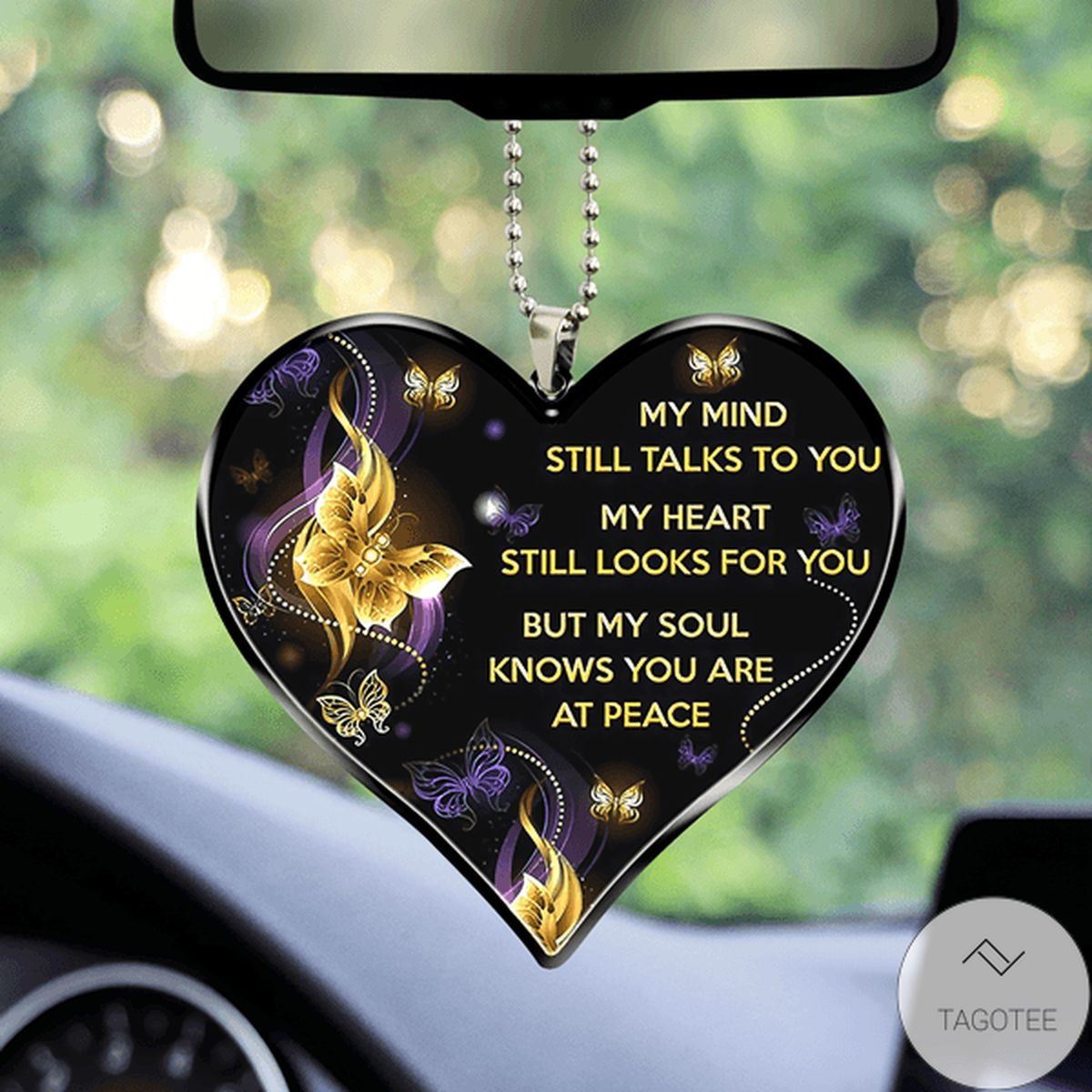 Unique My Mind Still Talks To You My Heart Still Looks For You Car Hanging Ornament