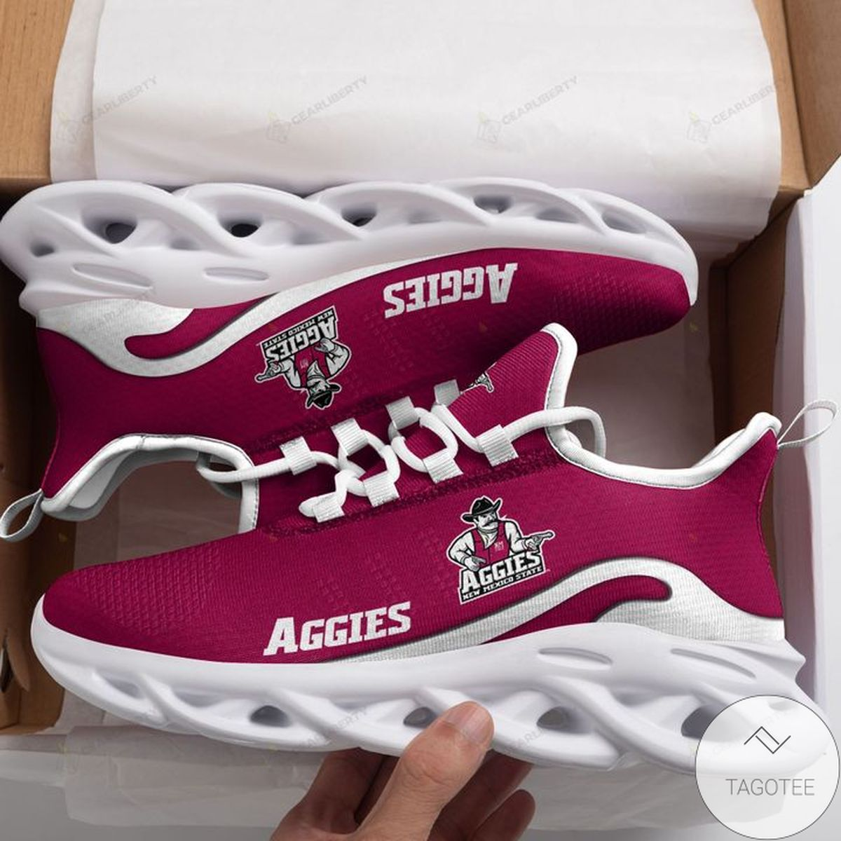 NCAA New Mexico State Aggies Max Soul Shoes