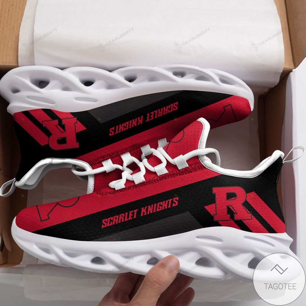 NCAA Rutgers Scarlet Knights Max Soul Shoes z