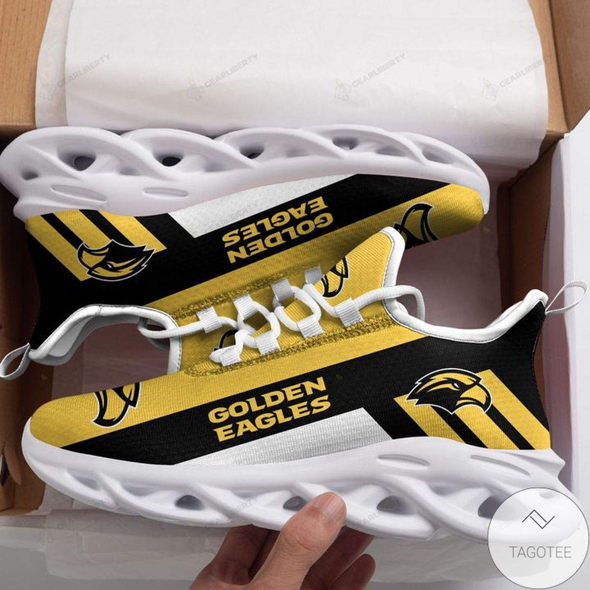 Hot Deal NCAA Southern Miss Golden Eagles Max Soul Shoes
