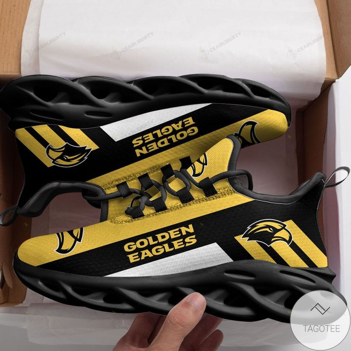 Father's Day Gift NCAA Southern Miss Golden Eagles Max Soul Shoes