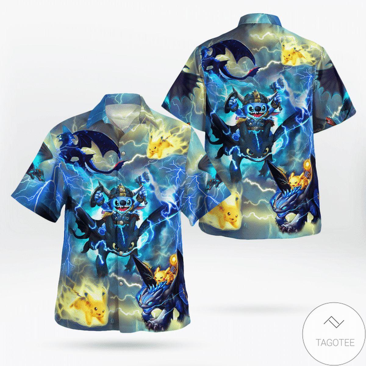 Night Fury On The Sky Hawaiian Shirt
