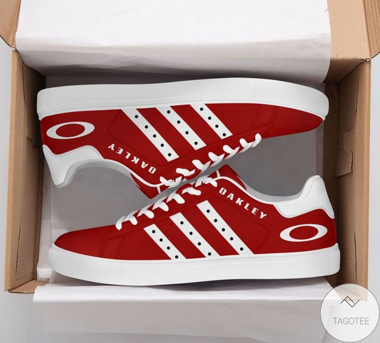 Esty Oakley Red Stan Smith Shoes