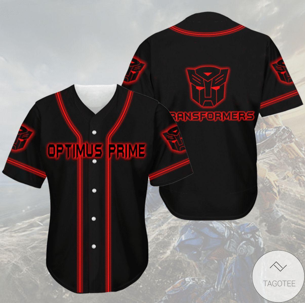 Us Store Optimus Prime Transformer Jersey Baseball Shirt