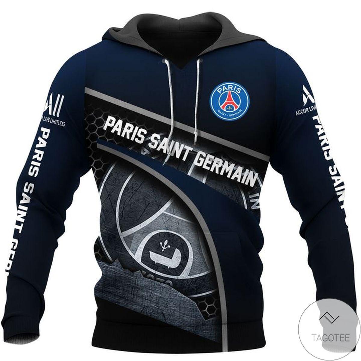 Mother's Day Gift Paris Saint Germain Black Hoodie
