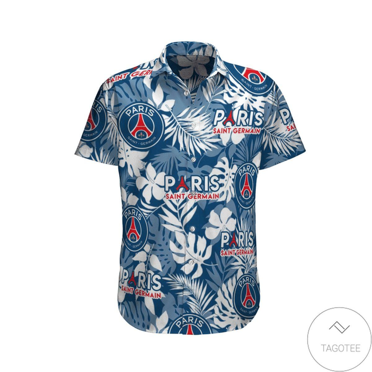 Paris Saint Germain Hawaiian Shirt