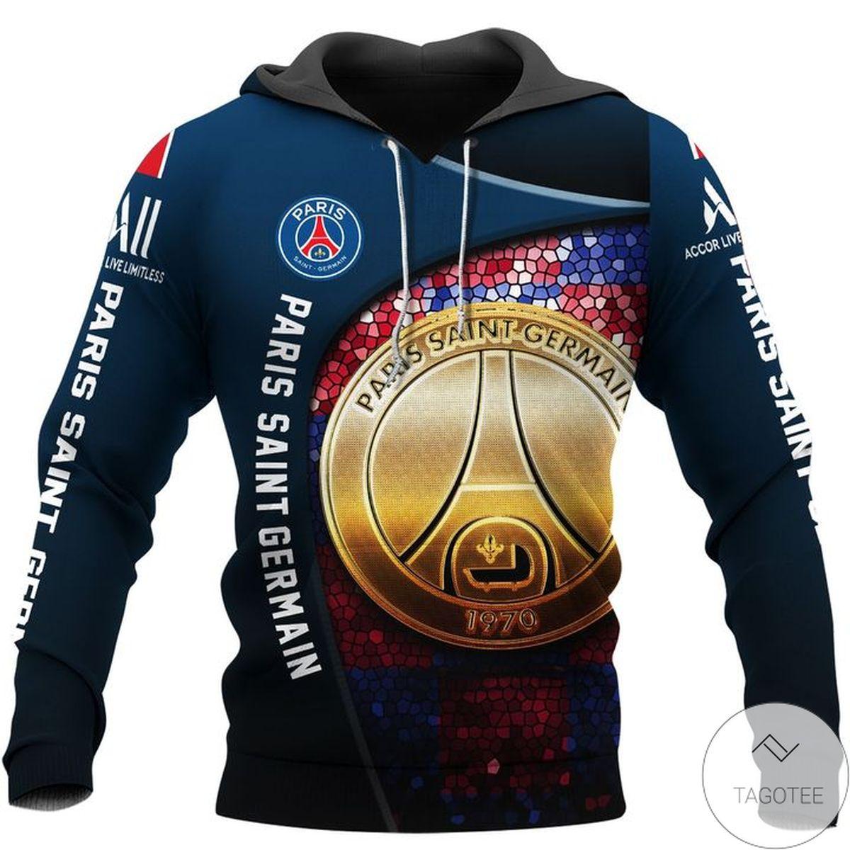 Discount Paris Saint Germain Logo Hoodie