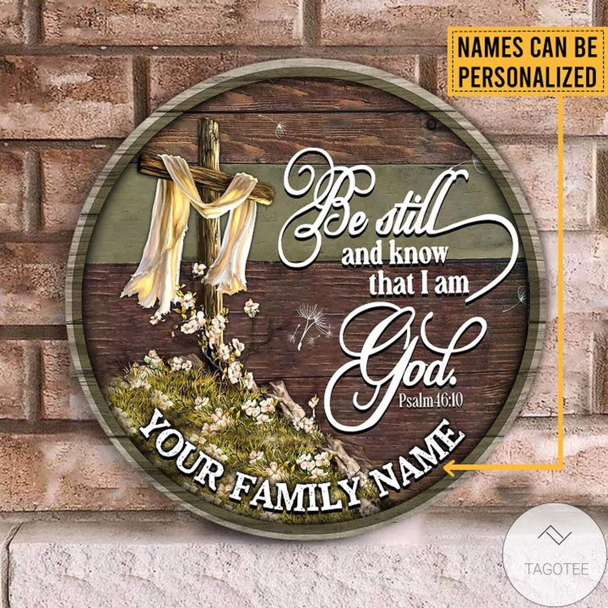Mother's Day Gift Personalized Be Still And Know That I Am God Wood Sign