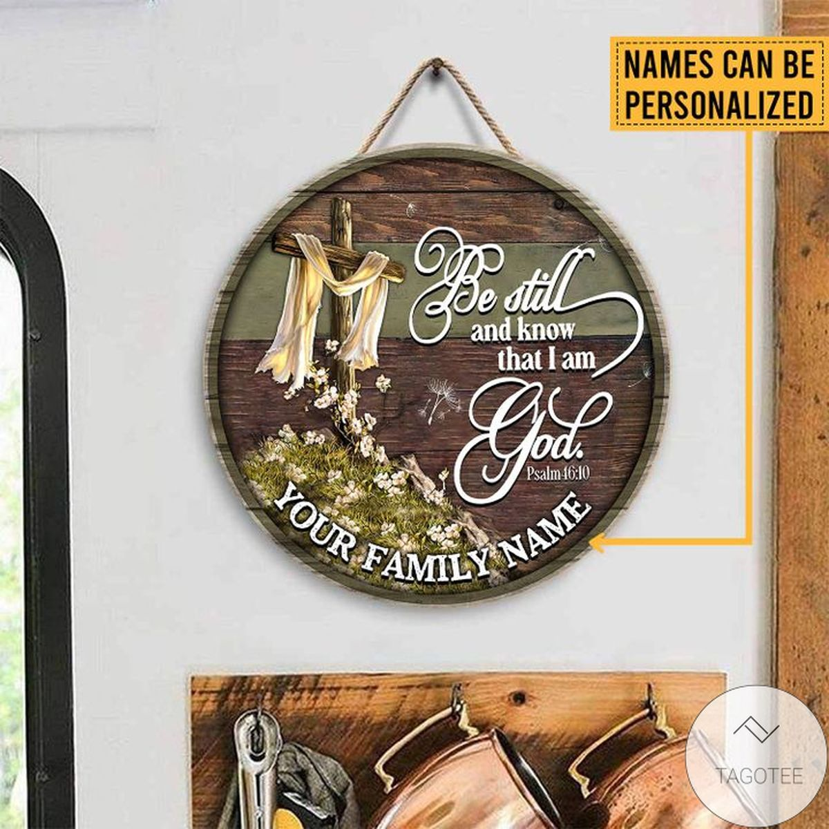 Print On Demand Personalized Be Still And Know That I Am God Wood Sign