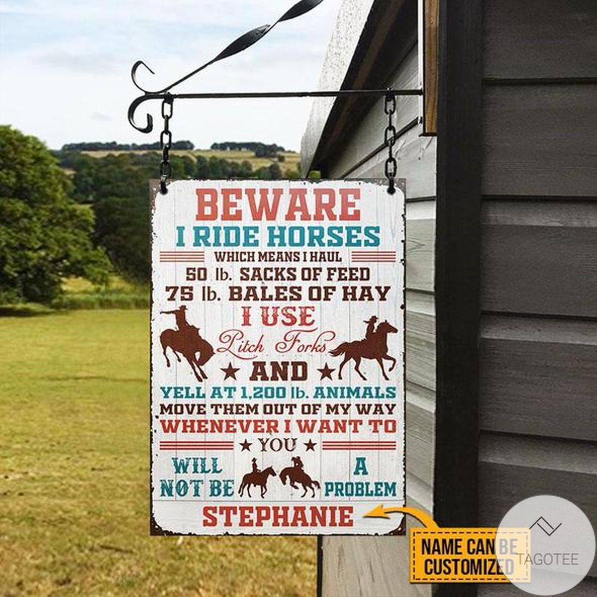 Where To Buy Personalized Beware I Ride Horses Classic Metal Signs