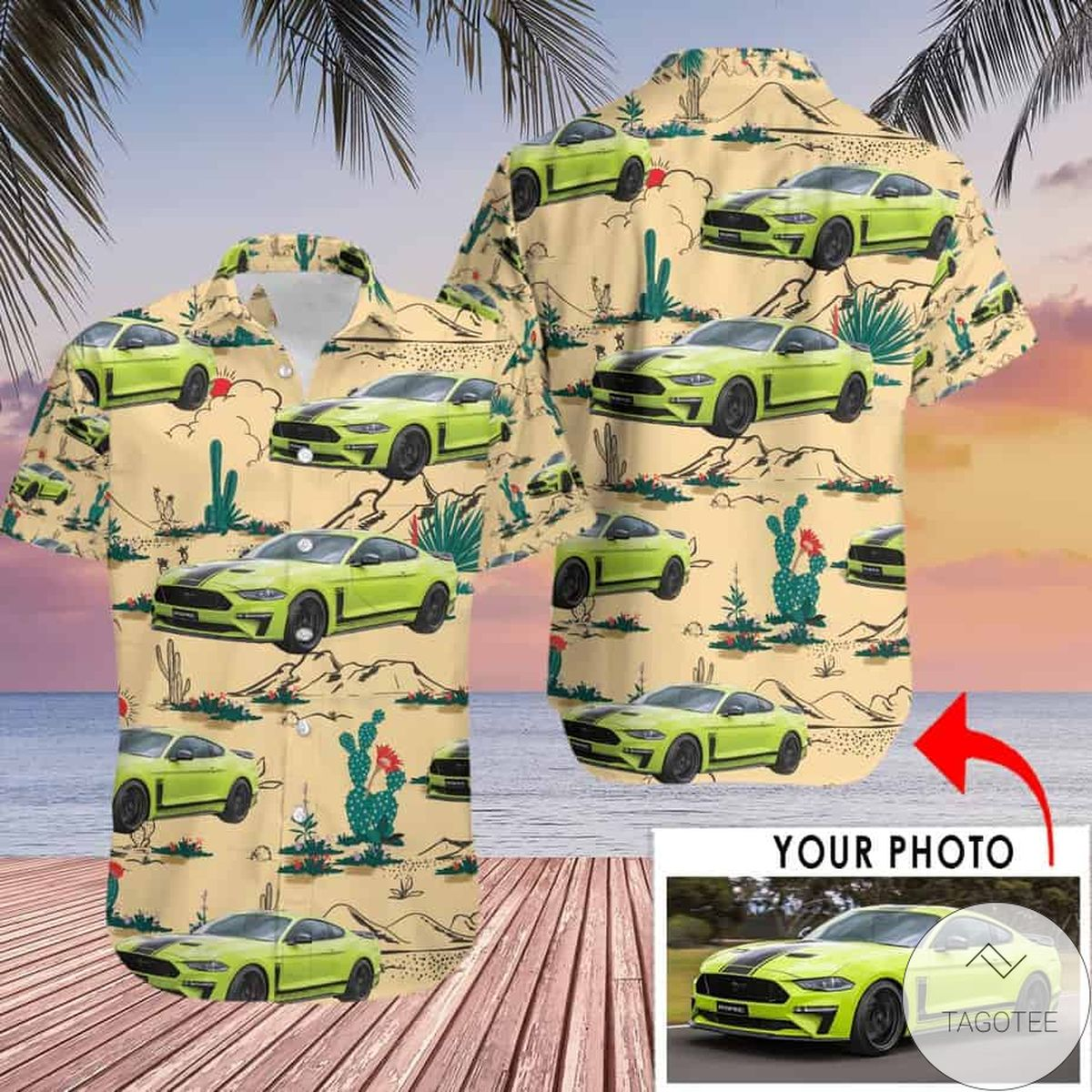 Excellent Personalized Car Photo Hawaiian Shirt