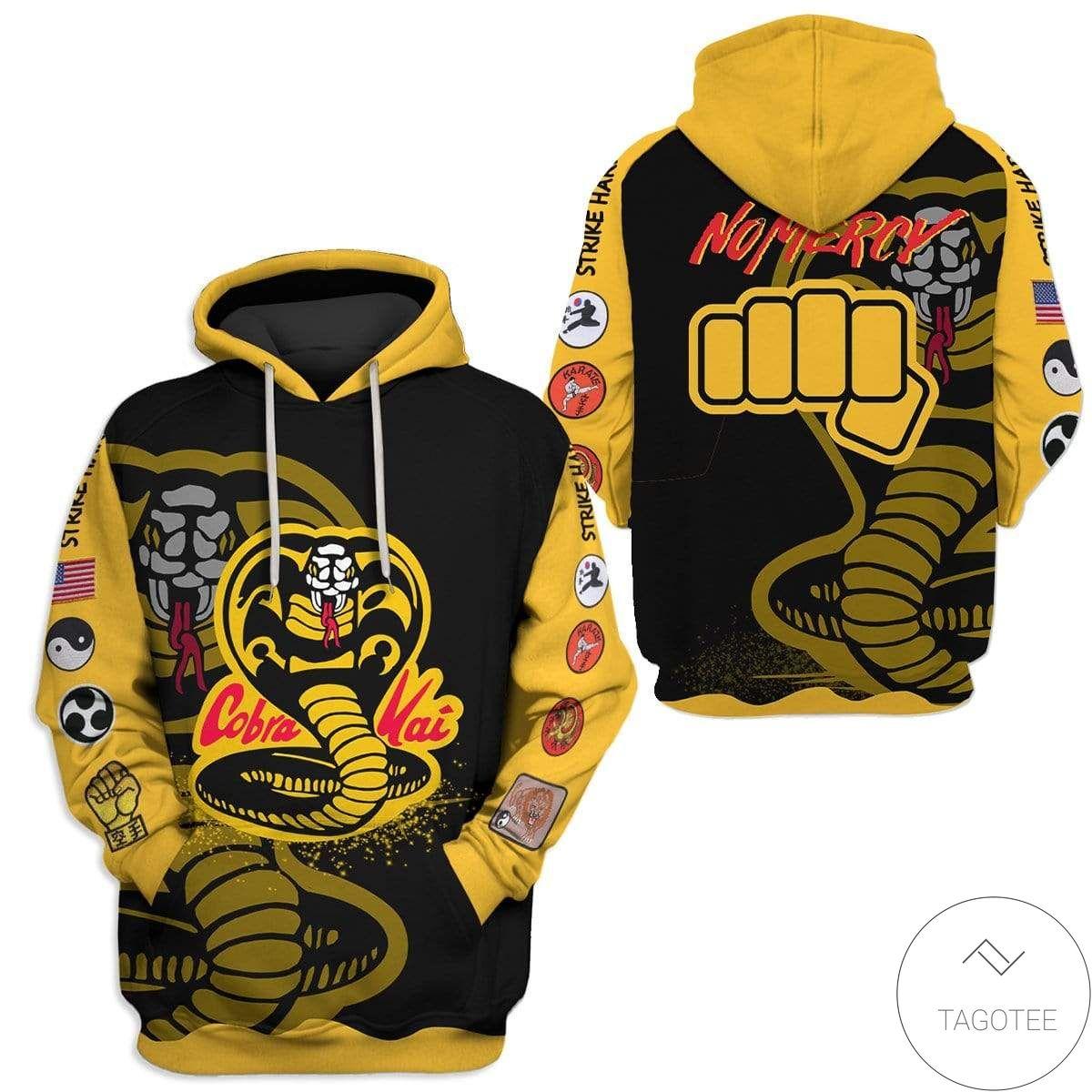 US Shop Personalized Cobra Kai No Mercy Hoodie