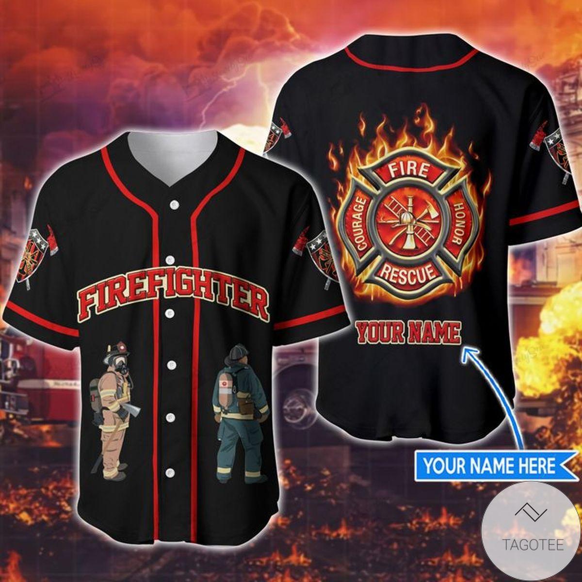 Free Personalized Firefighter Baseball Jerseys