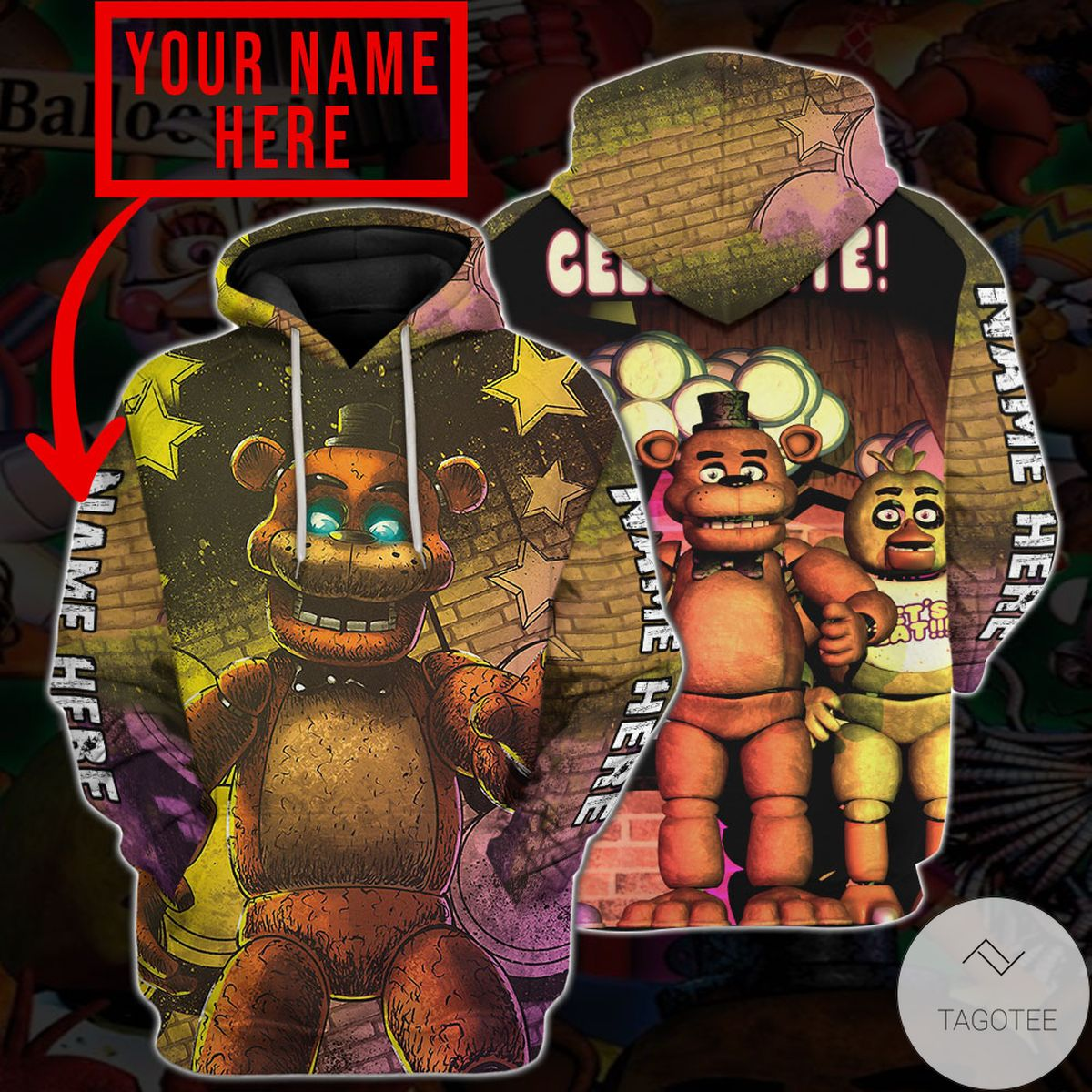 eBay Personalized Five Nights At Freddy's Hoodie