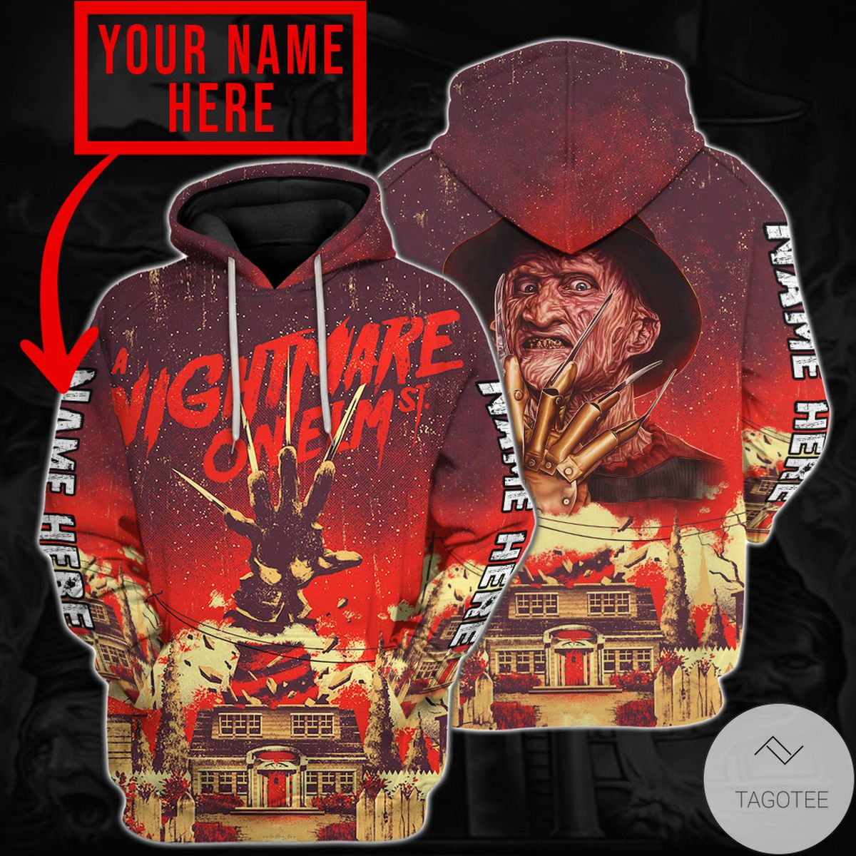 Mother's Day Gift Personalized Freddy Krueger A Nightmare On Elm Street Horror Movie Hoodie