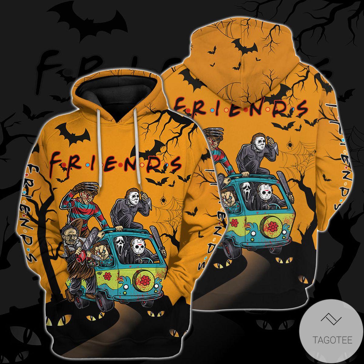 Buy In US Personalized Friends Horror Halloween Hoodie