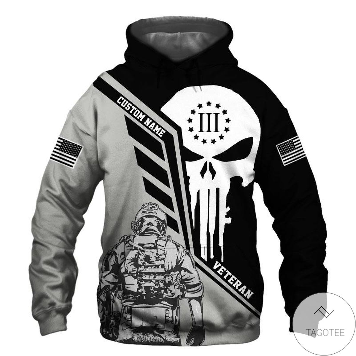 Personalized I Am A Us Veteran 3d Hoodie