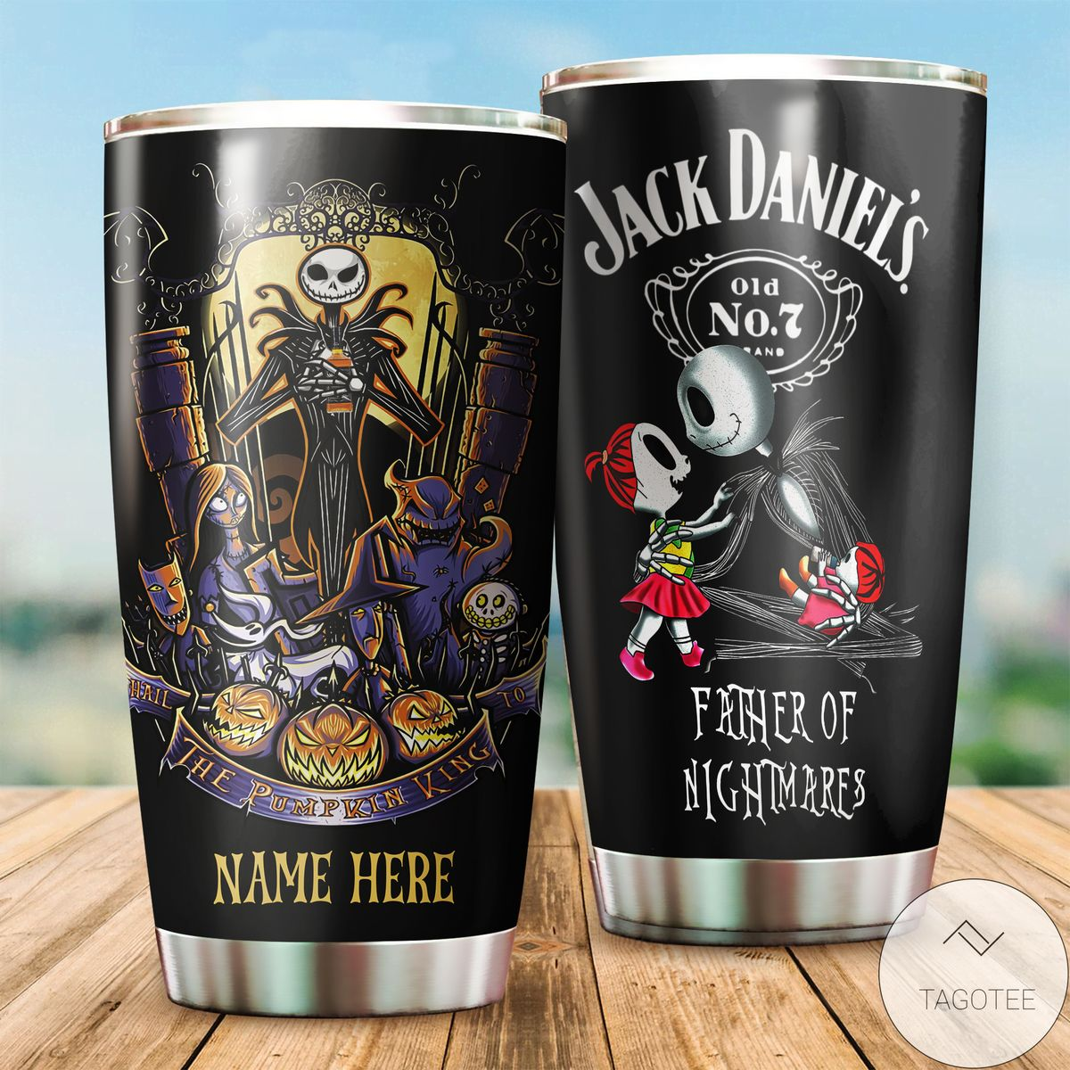 Gorgeous Personalized Jack Daniels Father Of Nightmare Tumbler