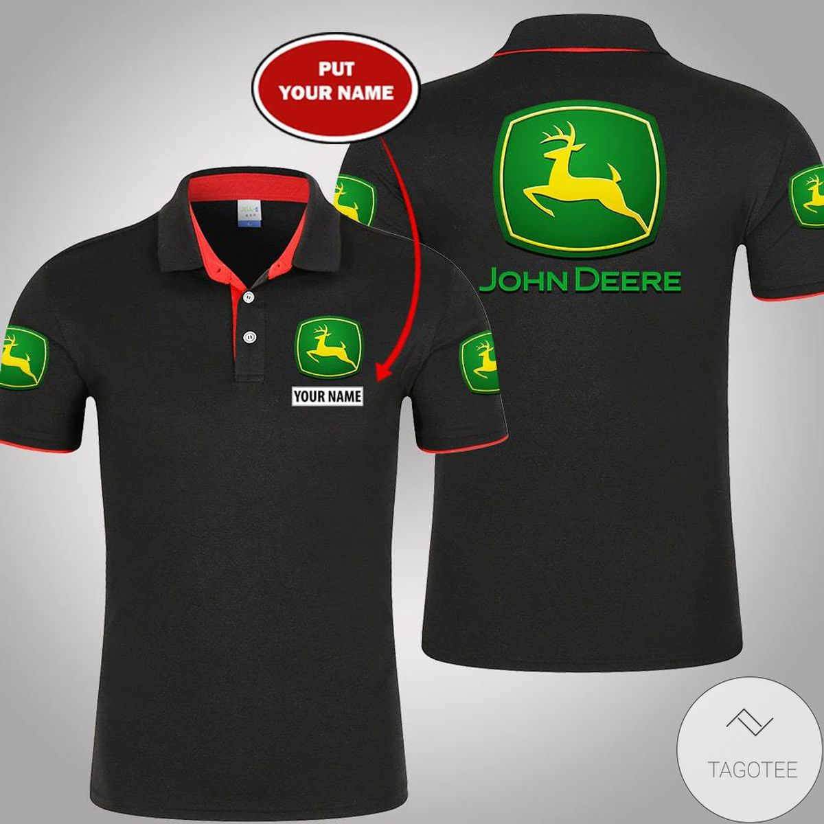 Ships From USA Personalized John Deere Polo Shirt