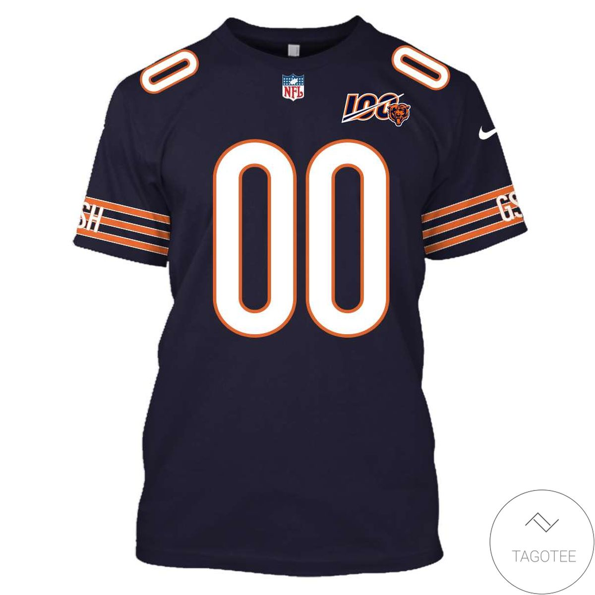 Unique Personalized Name And Number Chicago Bears 3D All Over Print Hoodie