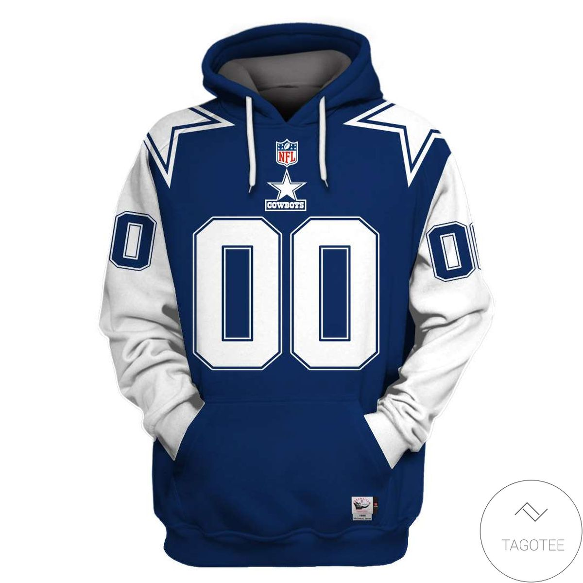 Awesome Personalized Name And Number Dallas Cowboys 3D All Over Print Hoodie