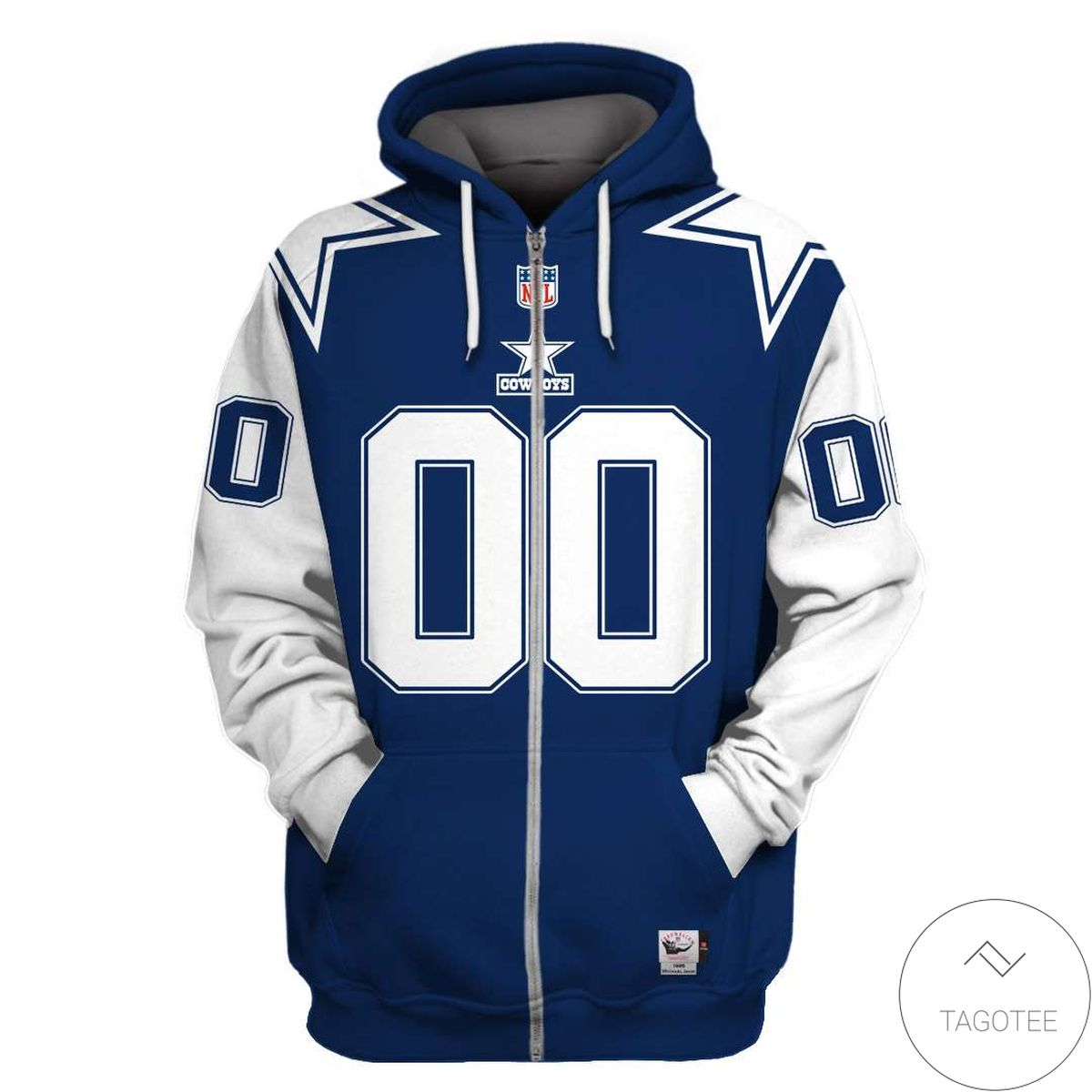 POD Personalized Name And Number Dallas Cowboys 3D All Over Print Hoodie