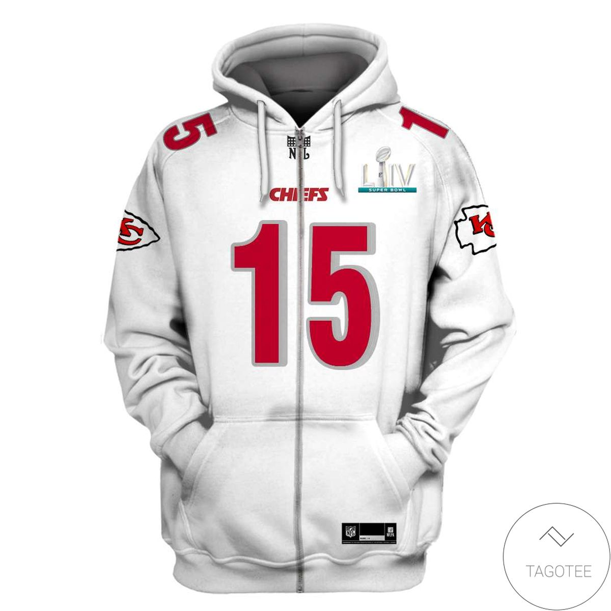 Gorgeous Personalized Name And Number Kansas City Chiefs 3D All Over Print Hoodie