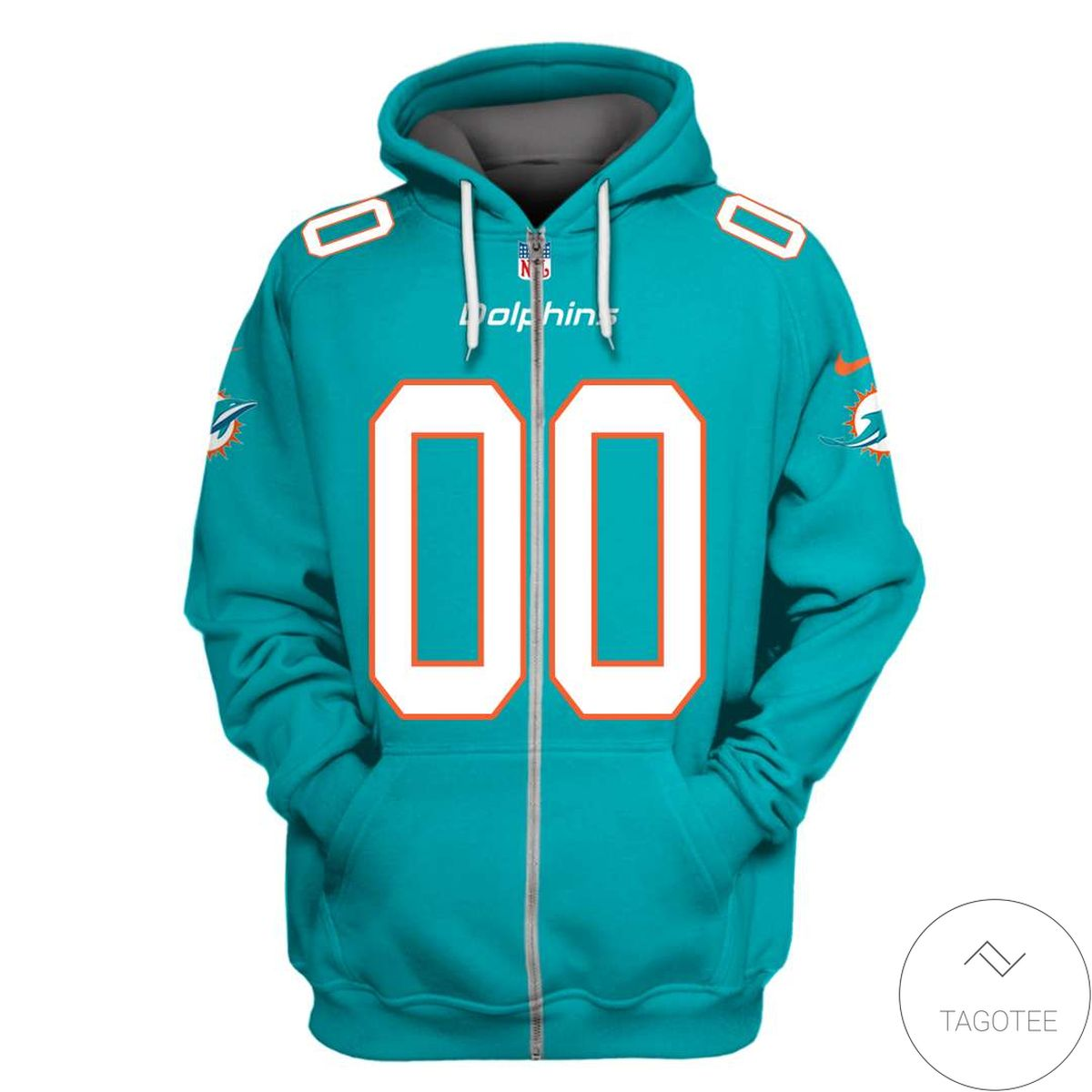 Top Selling Personalized Name And Number Miami Dolphins 3D All Over Print Hoodie