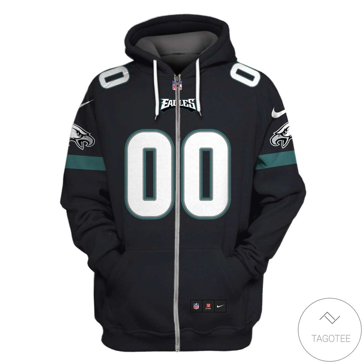 Beautiful Personalized Name And Number Philadelphia Eagles 3D All Over Print Hoodie