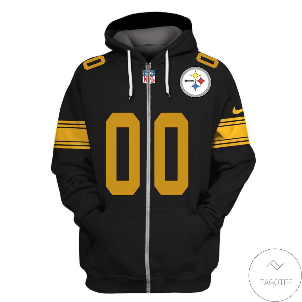 Awesome Personalized Name And Number Pittsburgh Steelers 3D All Over Print Hoodie