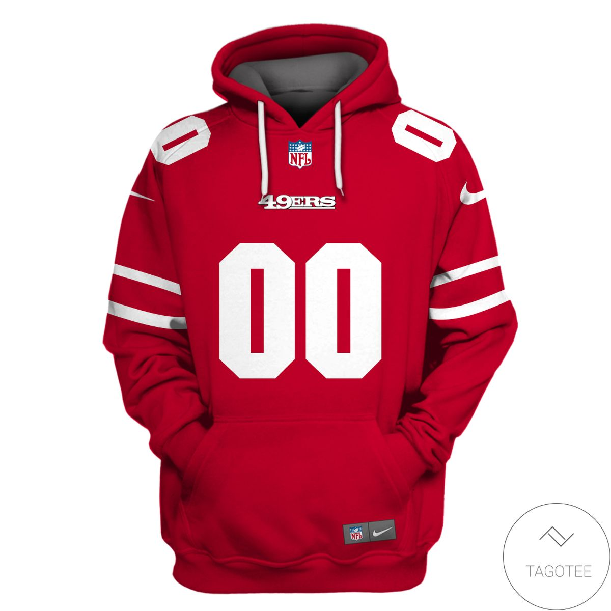 Print On Demand Personalized Name And Number San Francisco 49ers 3D All Over Print Hoodie