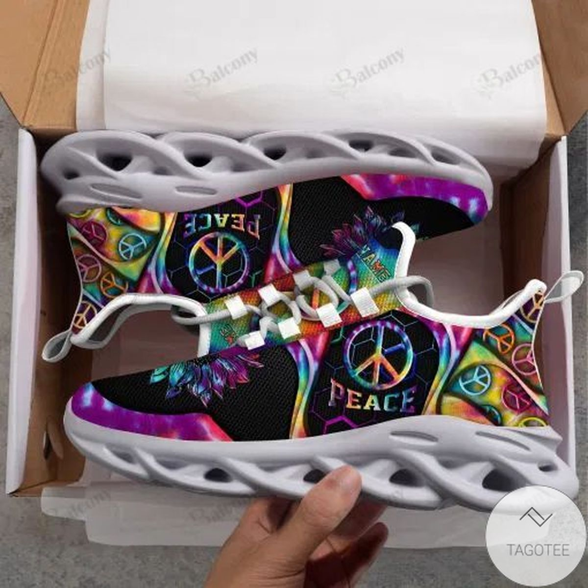 Personalized Name Hippie Running Max Soul Shoes