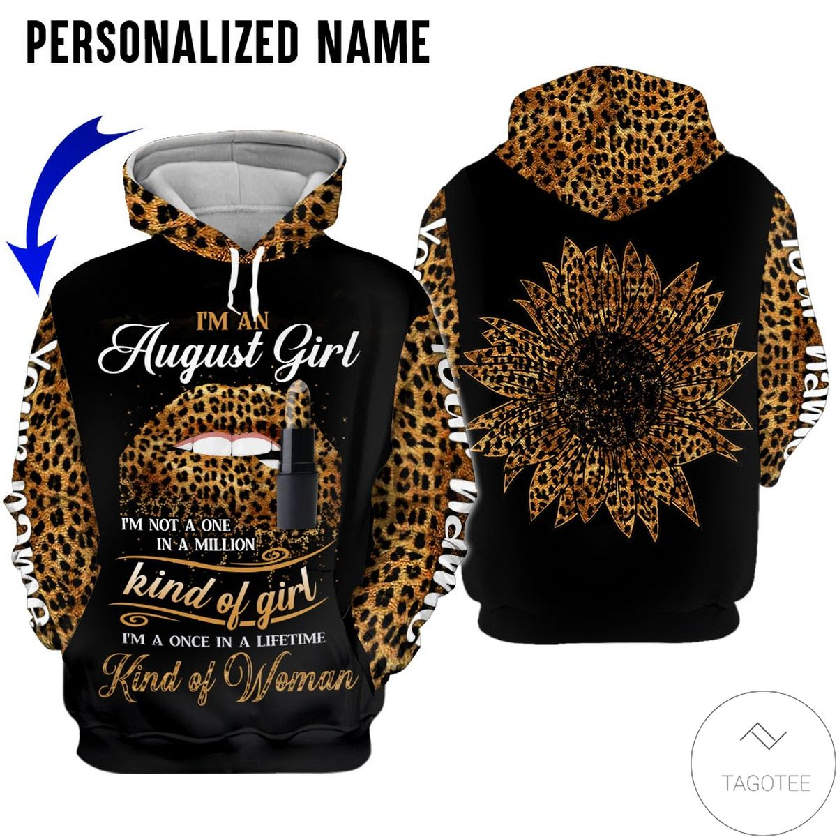 Rating Personalized Name I'm August Girl Kind Of Girl All Over Print Hoodie
