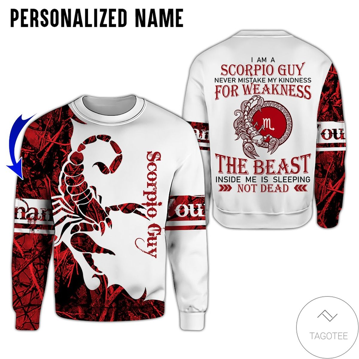 Funny Tee Personalized Name I'm Scorpio Guy Never Mistake All Over Print Hoodie