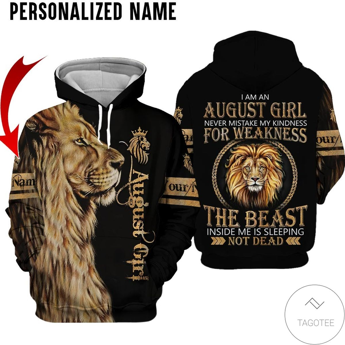 Personalized Name October Girl Sugar Skull Hated By Many Loved By Plenty All Over Print Hoodie