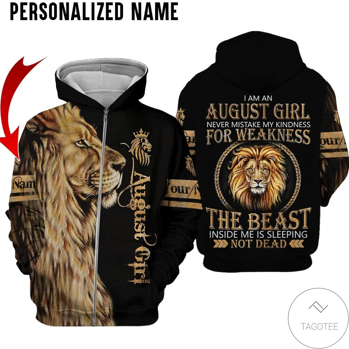Personalized Name October Girl Sugar Skull Hated By Many Loved By Plenty All Over Print Hoodiec