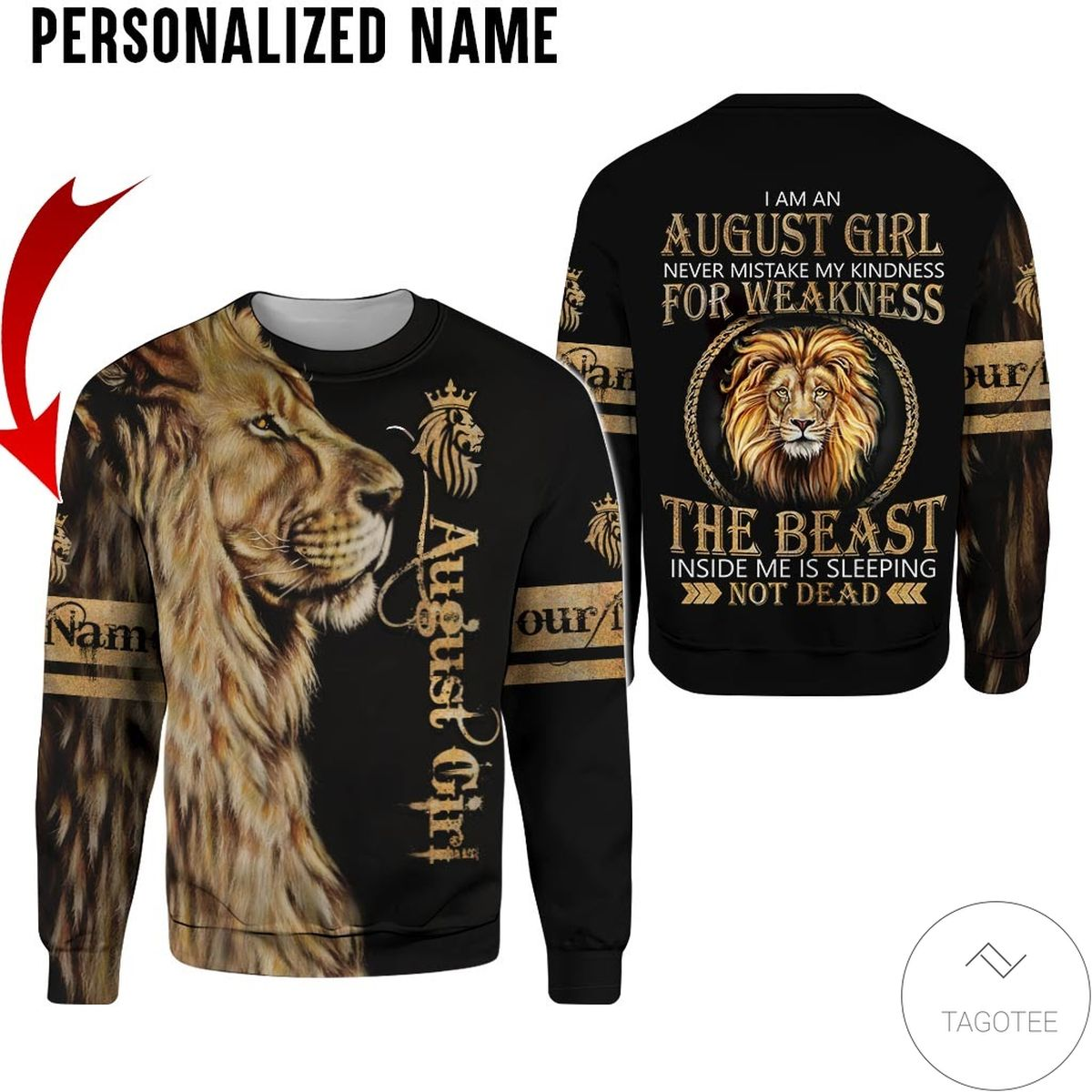 Personalized Name October Girl Sugar Skull Hated By Many Loved By Plenty All Over Print Hoodiex