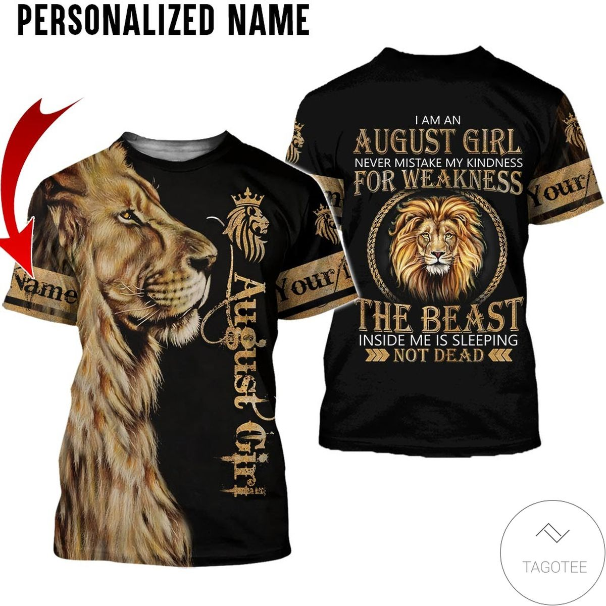 Personalized Name October Girl Sugar Skull Hated By Many Loved By Plenty All Over Print Hoodiez