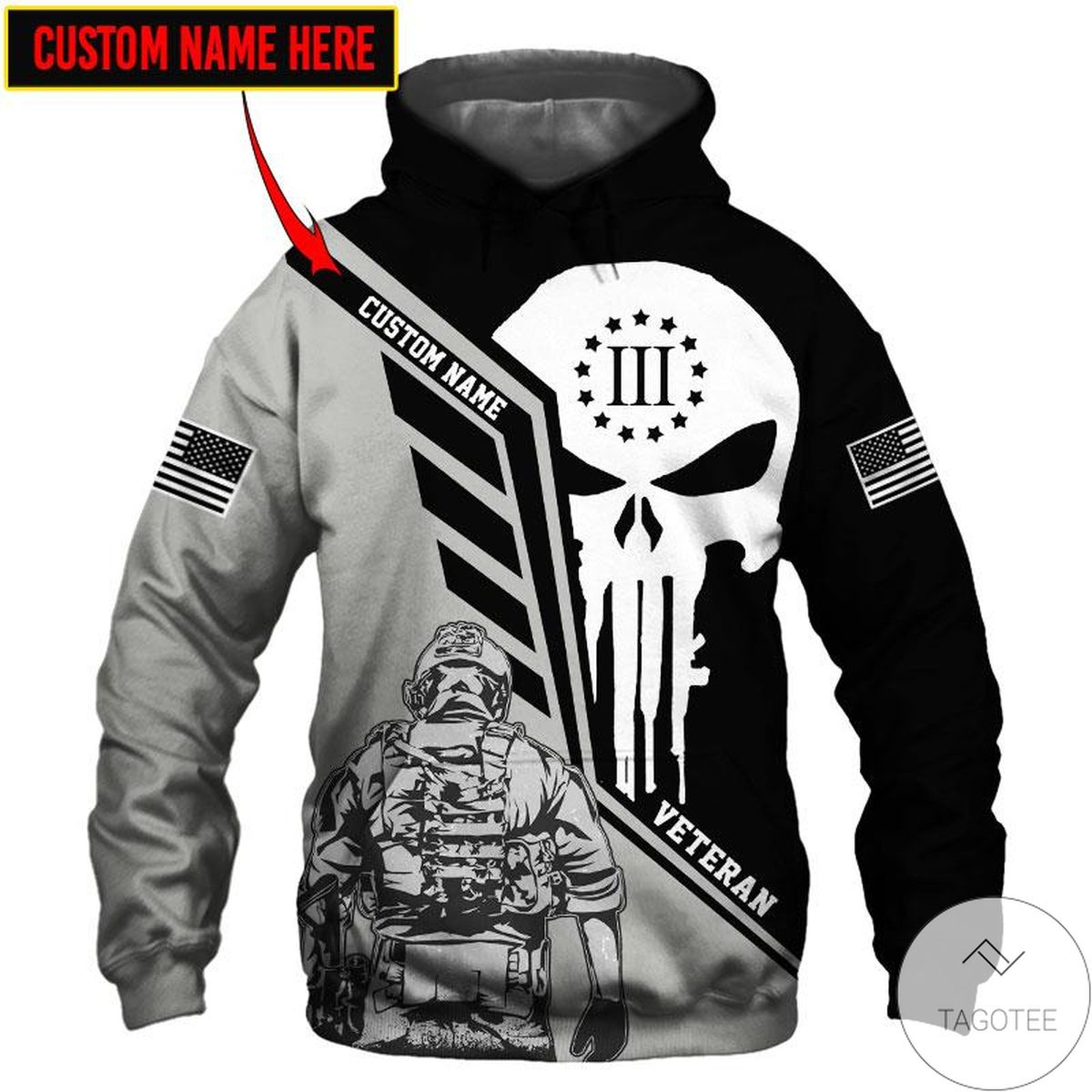 Personalized Since We Are Veteran 3d Hoodie