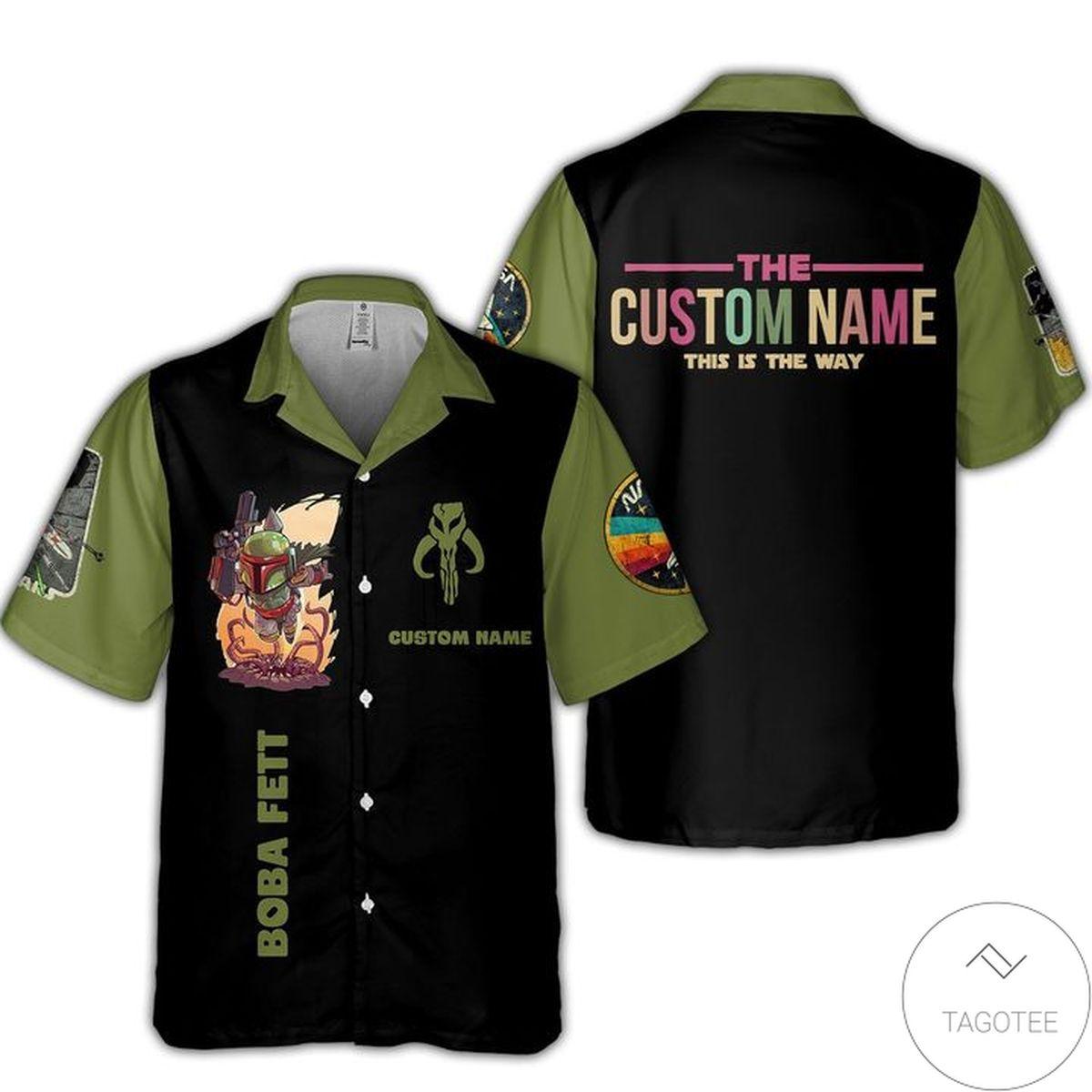 Gorgeous Personalized Star Wars Boba Fett Hawaiian Shirt