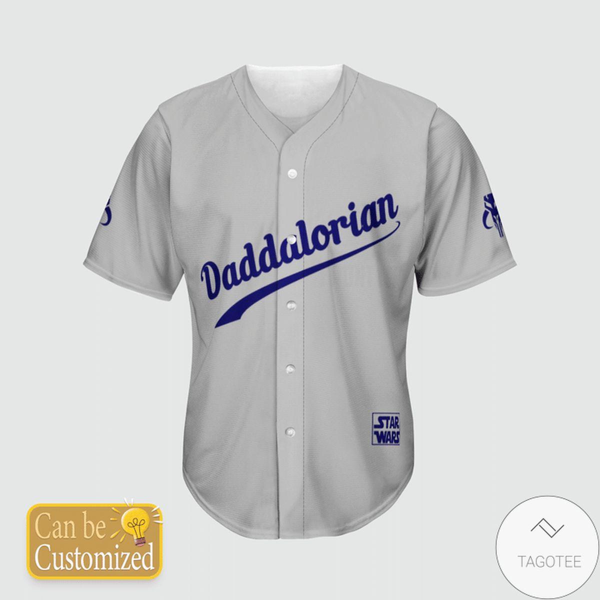 Personalized Star Wars Dadalorian Baseball Jersey