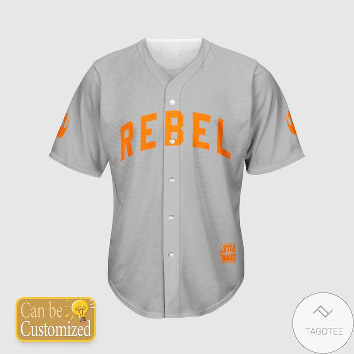 Best Gift Personalized Star Wars Rebel Baseball Jersey