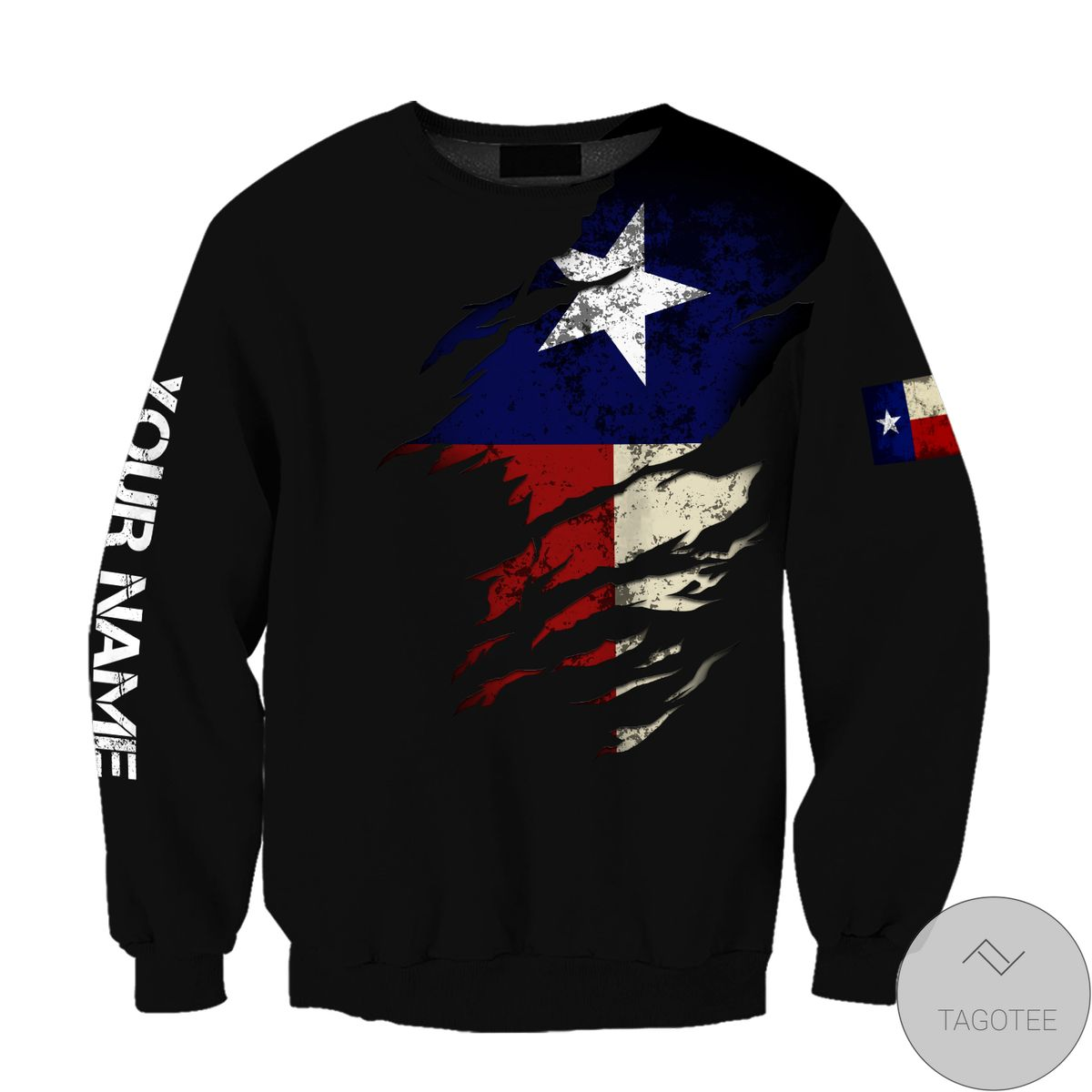 Personalized Thin Blue Line Apparel Texas Law Enforcement 3D All Over Print Hoodie x