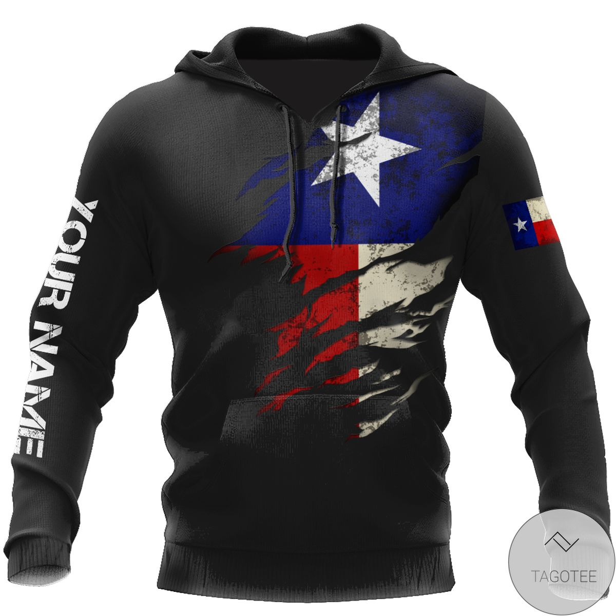 Personalized Thin Blue Line Apparel Texas Law Enforcement 3D All Over Print Hoodie