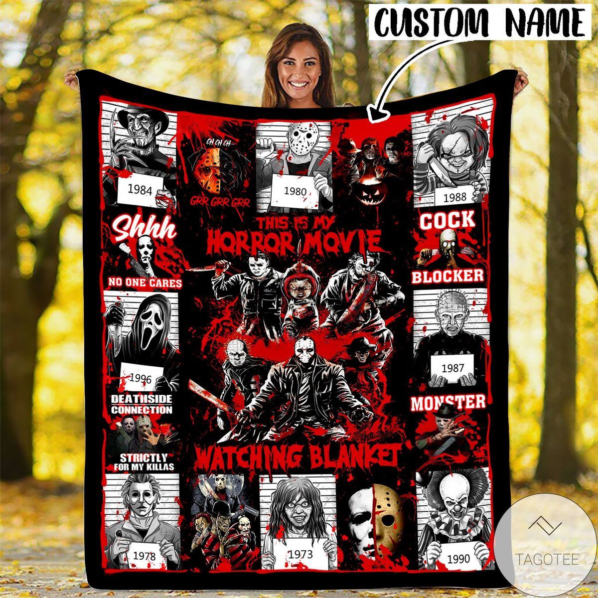 Personalized This Is My Horror Movie Watching Halloween Blanket