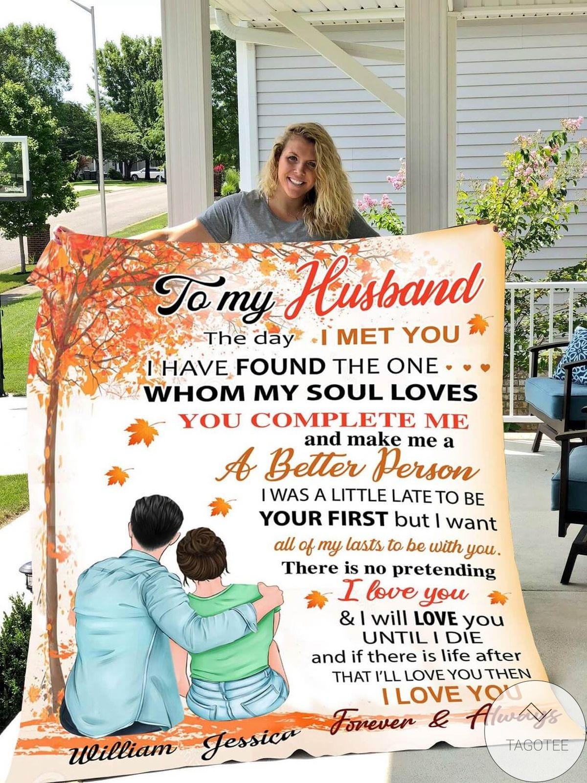 Absolutely Love Personalized To My Husband From Wife The Day I Met You Blanket