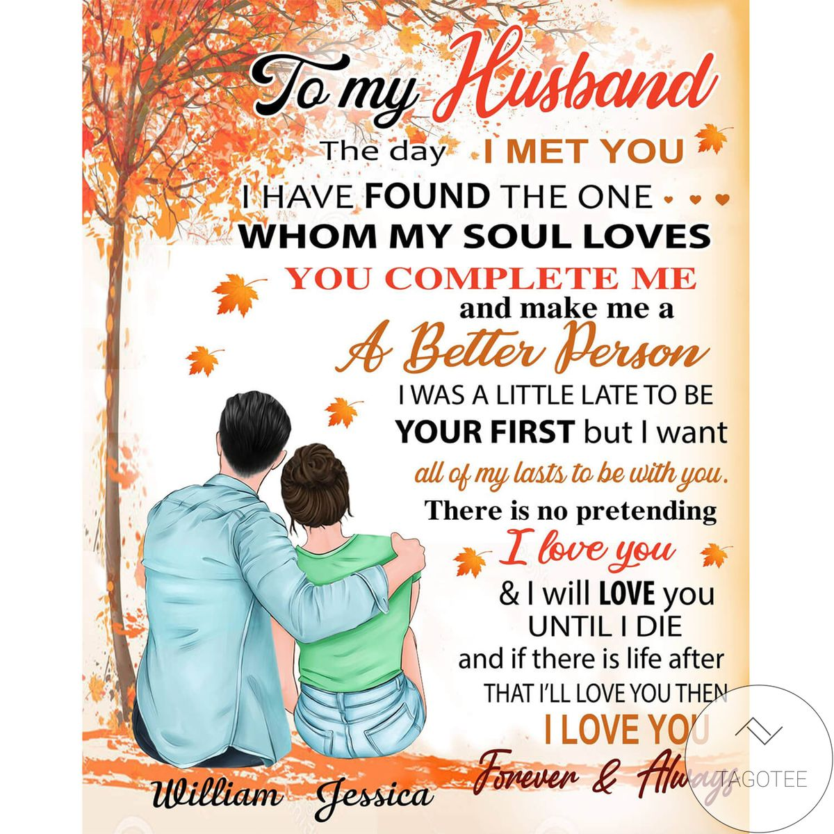 Where To Buy Personalized To My Husband From Wife The Day I Met You Blanket