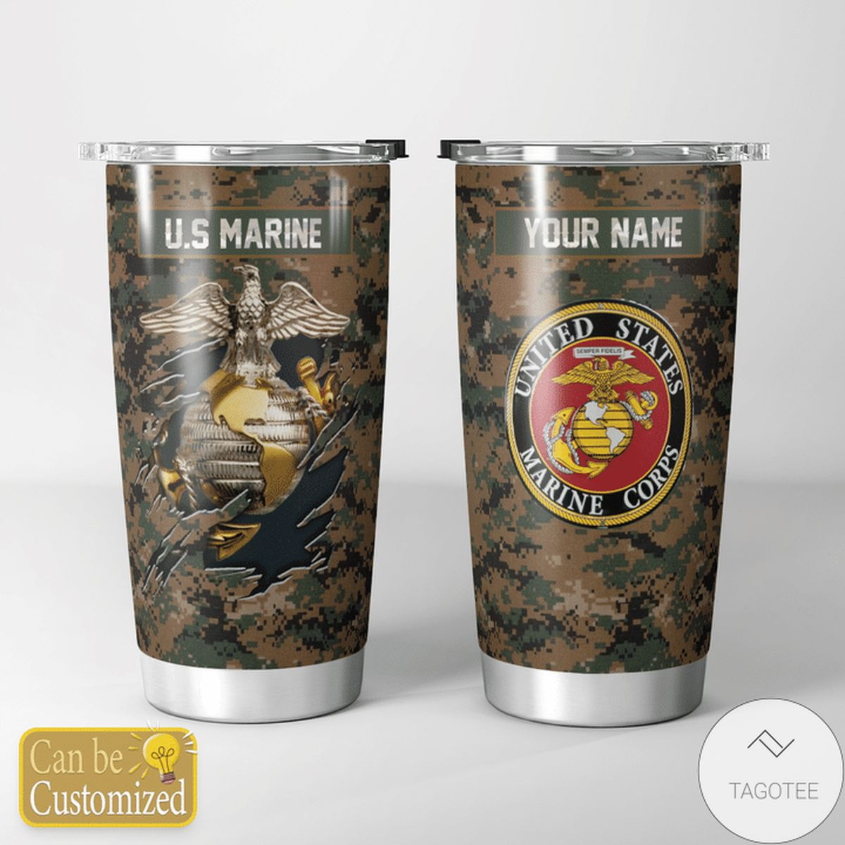 Top Rated Personalized Us Marine Corps Tumbler