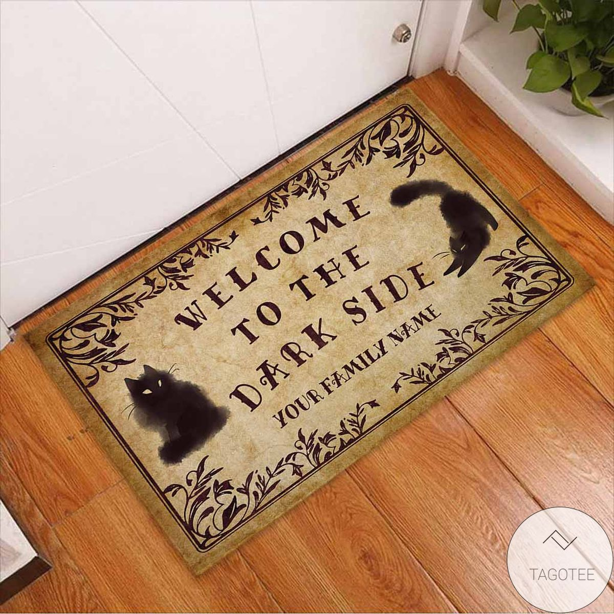 Very Good Quality Personalized Welcome To The Dark Side Black Cats Doormat
