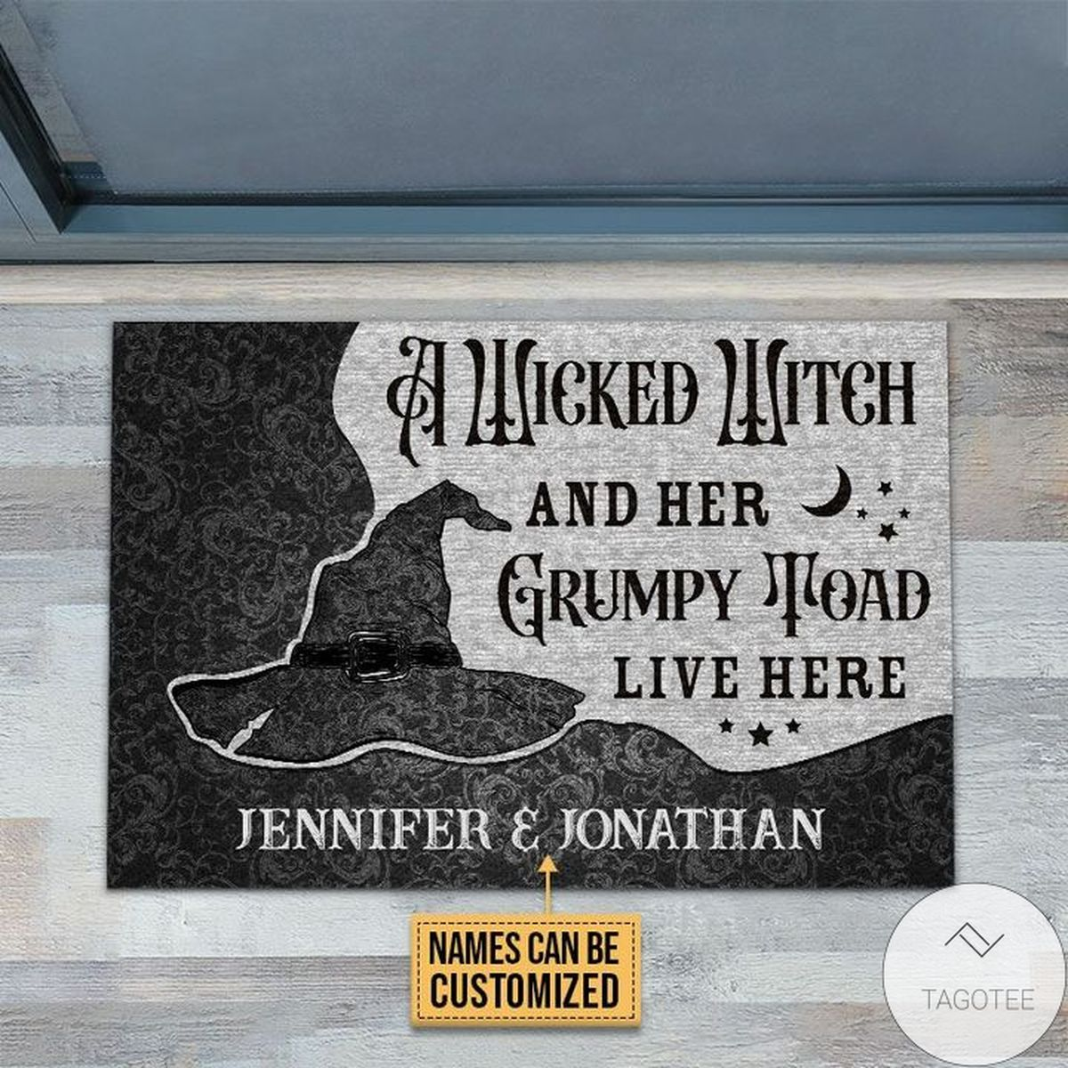 Great Personalized Wicked Witch Grumpy Toad Live Here Doormat